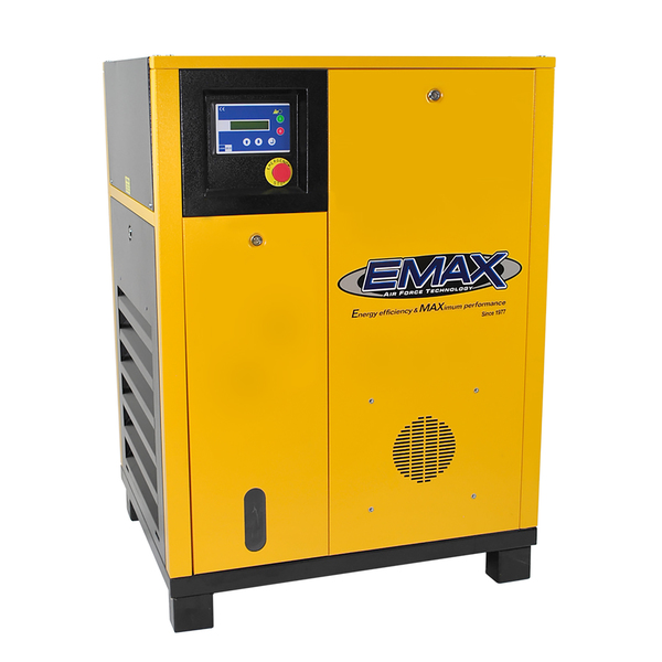 EMAX 7.5 HP 1-Phase Stationary Electric Rotary Screw Air Compressor