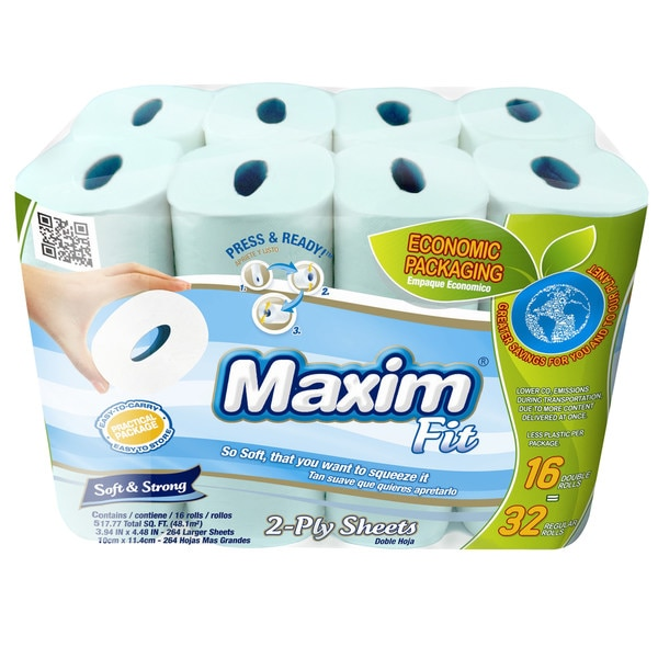 Maxim Fit Soft & Strong, 2 Ply White Bathroom Tissue