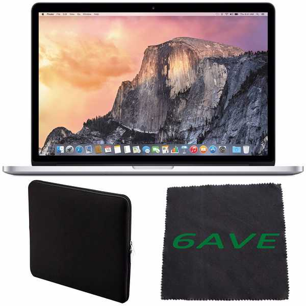 Apple 15.4' MacBook Pro Laptop Computer with Retina Display & Force Touch Trackpad #MJLQ2LL/A + Padded Case Bundle