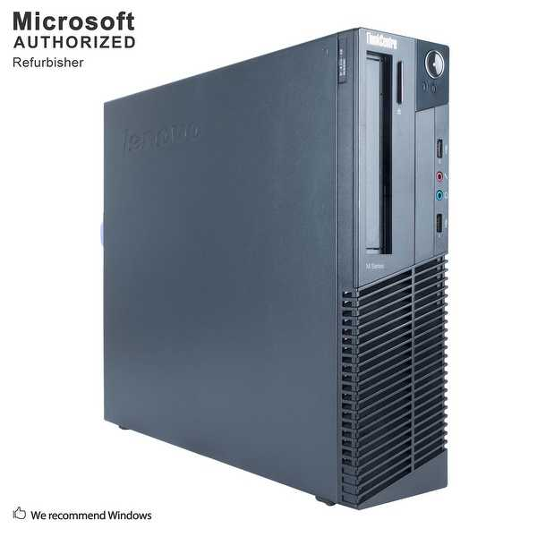 Certified Refurbished Lenovo M82P SFF, Intel i5-3570 3.4G, 16G DDR3, 240G SSD + 3TB HDD, DVD, WIFI, BT 4.0, HDMI, W10P64 (EN/ES)